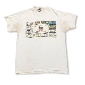Vtg Jeep jamboree usa.com Medium Hanes '01 flaws